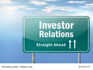 "Highway Signpost ""Investor Relations"""